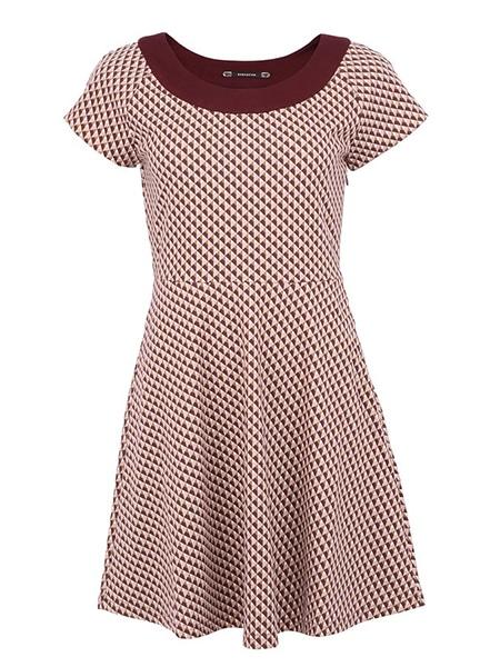 vero moda vigga klänning vinröd